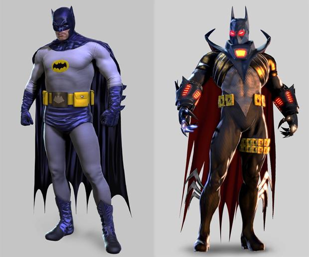 Batman de Adam West e Azrael viram skins em Batman: Arkham Origins (Foto: Siliconera)
