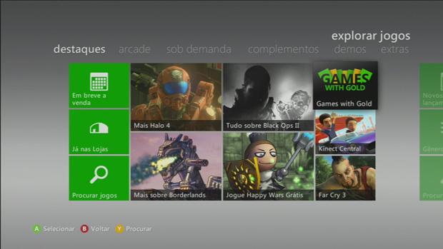 Clique no ícone Games With Gold quando estiver em destaques. (Foto: Reprodução)