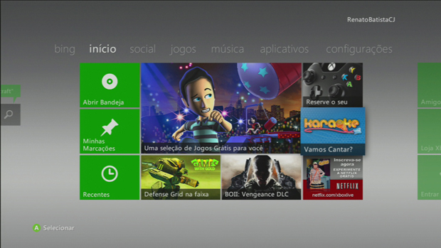 Inicie o Xbox e siga para a aba Jogos. (Foto: Reprodução)