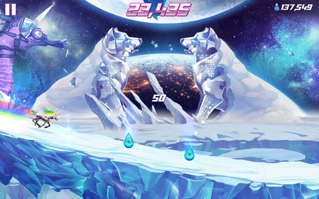 Robot Unicorn Attack 2 é a junção dos dois jogos anteriores e com gráficos renovados (Foto: Divulgação)