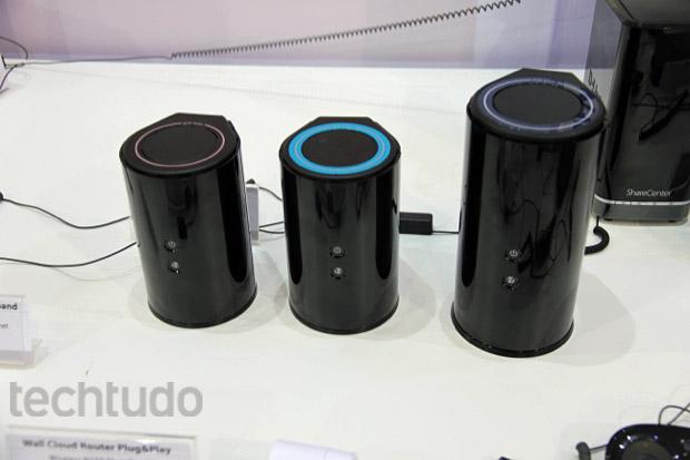 Nova linha de roteadores D-Link Wi-Fi com a tecnologia 11AC entregam uma velocidade até quatro vezes mais rápida que os atuais modelos (Foto: TechTudo / Rodrigo Bastos)