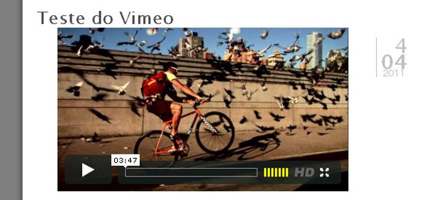 Vimeo no Wordpress  (Foto: Reprodução/Gustavo Ribeiro)