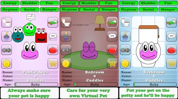 Virtual Pet Care para Android é mais um clone de Pou (Foto: Divulgação)