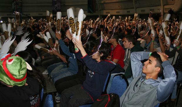 Torcida vibrava a cada lance nas partidas (Foto: Felipe Vinha/TechTudo)