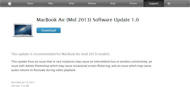 Atualização do MacBook Air está disponível no site da Apple (foto: Divulgação)