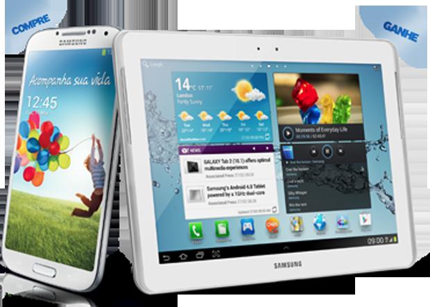 Promoção da Samsung dá um Galaxy Tab 2 para quem comprar o Galaxy S4 (foto: Divulgação)