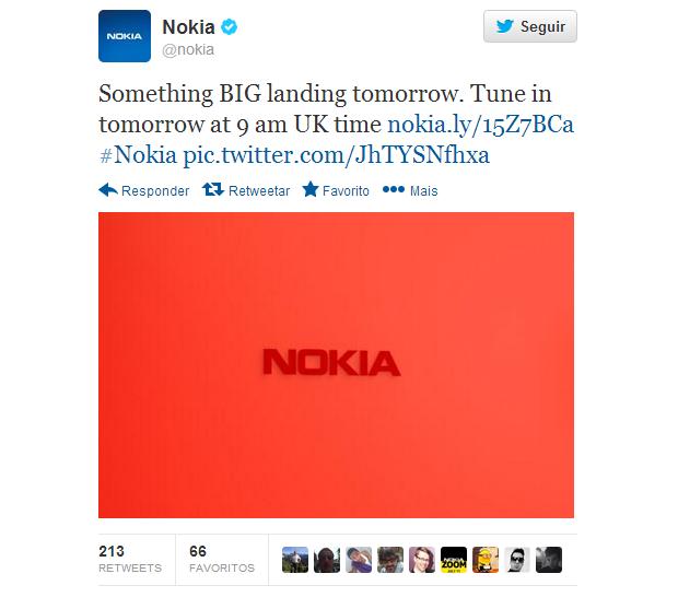 Nokia fez anúncio misterioso no Twitter (Foto: Reprodução/Nokia)