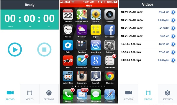 XRec: app está disponível por cerca de R$ 4 na App Store (Foto: Divulgação)