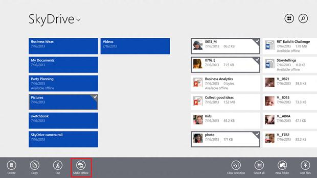 SkyDrive agora tem acesso offline a arquivos (Foto: Divulgação)