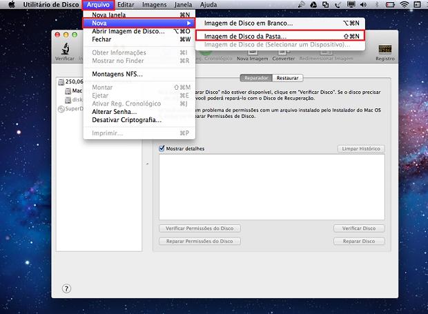 """Na barra de ferramentas do sistema, clique em """"Arquivo"""" para criar uma nova imagem (Foto: Reprodução/Thiago Bittencourt)"""