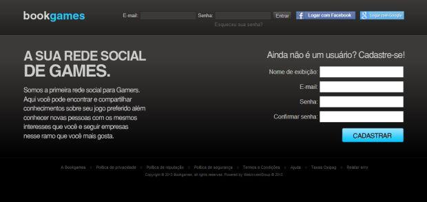 Tela inicial da rede social, sem efetuar log in (Foto: Divulgação)