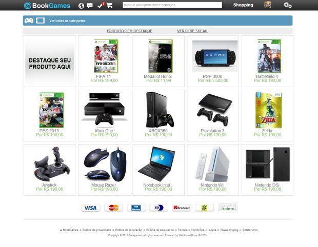 Venda de games e consoles na Book Games (Foto: Divulgação)
