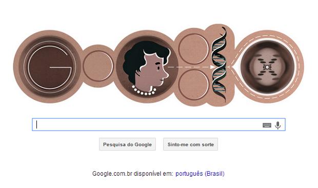 Doodle faz homenagem à bióloga britânica (Foto: Google)