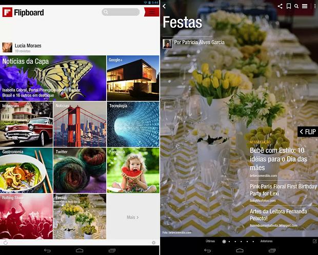 Flipboard é um agregador de notícias cheio de estilo (Foto: Divulgação)