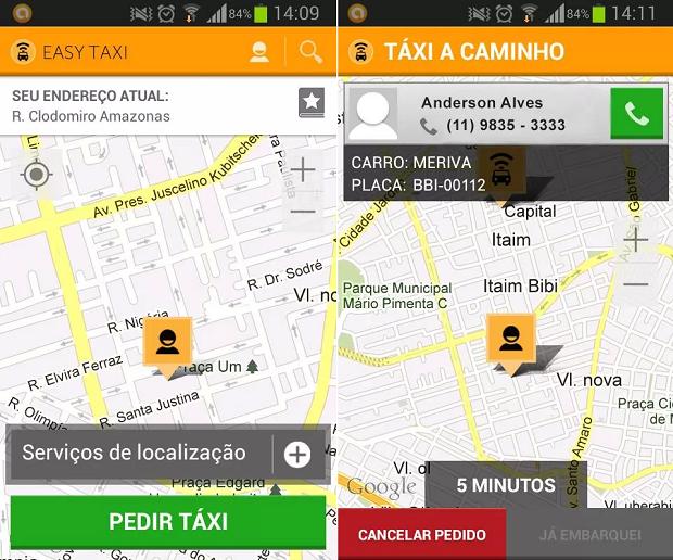 Pedir táxi com o Easy Taxi é bem mais simples (Foto: Divulgação)