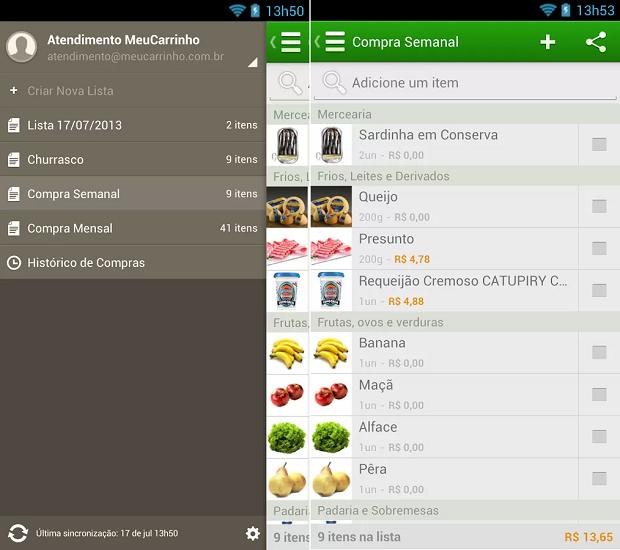 MeuCarrinho é um app útil na hora de fazer compras (Foto: Divulgação)