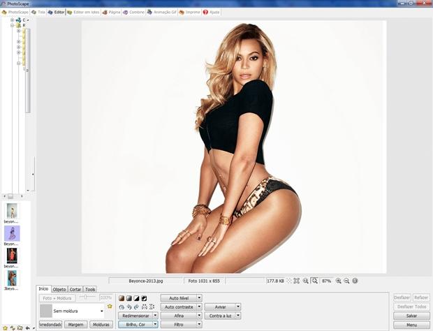 Tela inicial do editor do Photoscape (Foto: Reprodução/Raquel Freire)