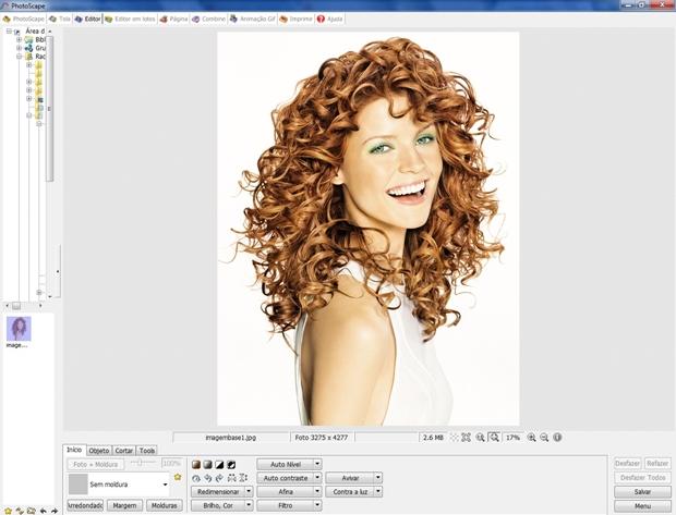 Imagem carregada através do menu editor do Photoscape (Foto: Reprodução/Raquel Freire)