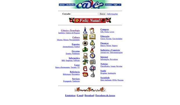 Site Cadê? era o farol da Internet no Brasil nos anos 90 (Foto: Reprodução / WebArchive)