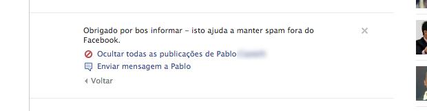 Conteúdo reportado à equipe do Facebook (Foto: Reprodução/Helito Bijora) (Foto: Conteúdo reportado à equipe do Facebook (Foto: Reprodução/Helito Bijora))