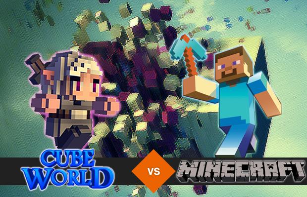 Cube World x Minecraft (Foto: Reprodução/Silas Tailer)