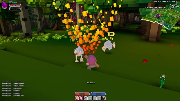 Invoque poderosas magias em Cube World (Foto: Divulgação)