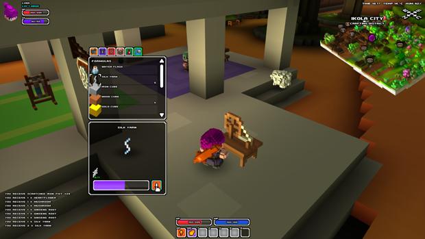 Criando novos itens em Cube World. (Foto: Divulgação)