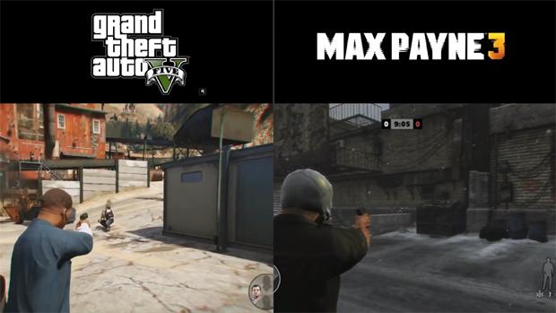 Comparação mostra como GTA 5 usa mesma mecânica de Max Payne 3 (Foto: Reprodução)
