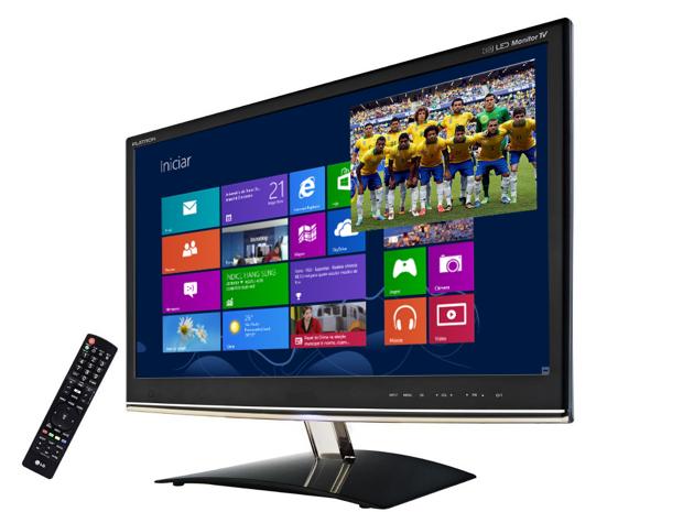 Uma TV monitor pode mostrar as imagens do computador e da TV simultaneamente (Foto: Reprodução)