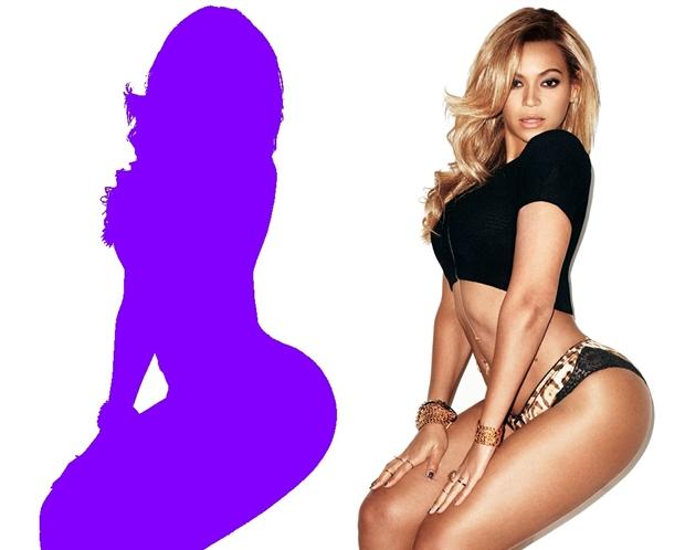 Silhueta de Beyoncé criada no Photoscape (Foto: Reprodução/Raquel Freire)