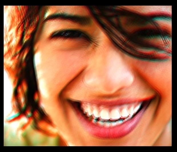 Foto com efeito 3D anáglifo feito no PhotoFiltre Studio (Foto: Raquel Freire)