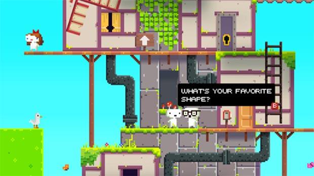 Fez parece ser um jogo 2D, mas permite rotacionar cenário em 3D (Foto: Divulgação)