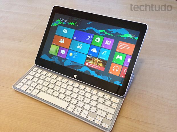 LG SlidePad é um híbrido entre tablet e notebook (Foto: TechTudo/André Fogaça)