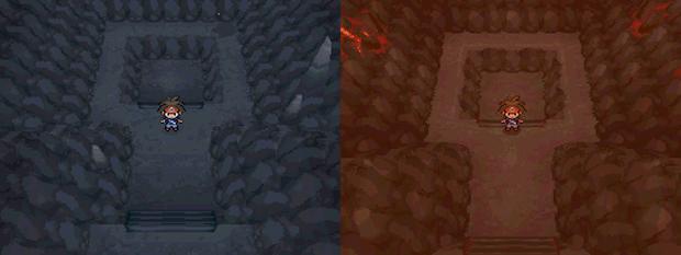 Diferenças estéticas na Reversal Mountain entre Black 2 (esquerda) e White 2 (direita) (foto: Divulgação)