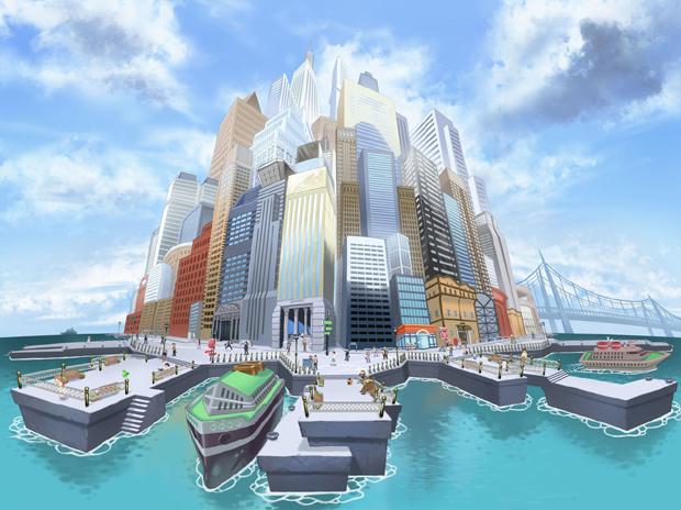 Castelia foi desenvolvida para ser a maior cidade da história de Pokémon (foto: Divulgação)