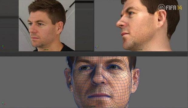 Rostos em 3D dos jogadores foram divulgados no Facebook (Foto: Divulgação) (Foto: Rostos em 3D dos jogadores foram divulgados no Facebook (Foto: Divulgação))