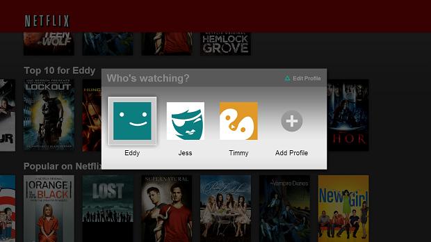 Perfis aparecerão na tela inicial do Netflix (Foto: Divulgação)