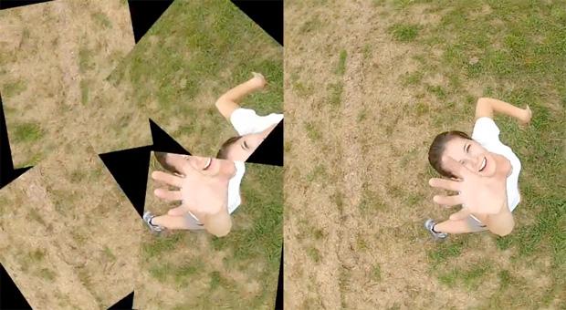 A invenção de Steve reúne as fotografias e vídeos de suas três câmeras, formando imagens panorâmicas (Foto: Divulgação/ Serveball)
