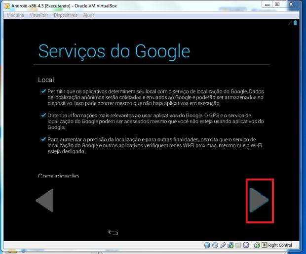 Confirmando as permissões para os serviços do Google (Foto: Reprodução/Edivaldo Brito)