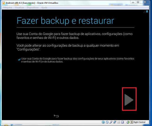 Confirmando o uso de sua conta para fazer backup de seus dados (Foto: Reprodução/Edivaldo Brito)