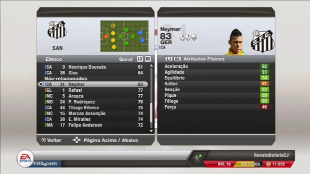 Atualizações de Fifa 13 ainda não levaram Neymar para o Barça (Foto: Divulgação)