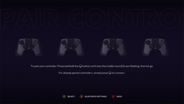 Tela de sincronização de joysticks do Ouya (Foto: tortuga-cove.com)