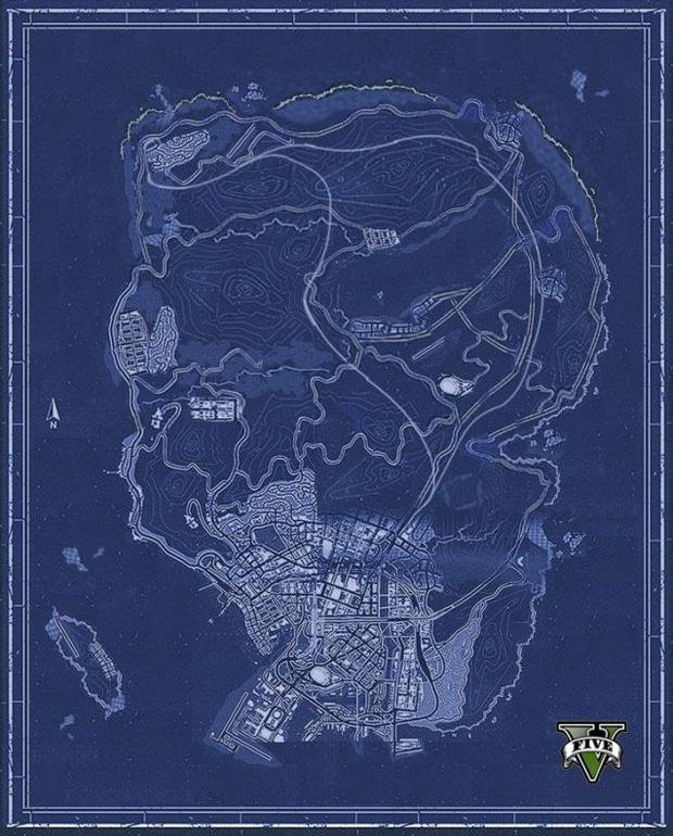 Mapa de GTA 5 feito por fãs é até preciso, mas escala surpreendeu (Foto: Gameranx)