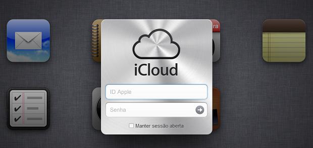 Faça login para entrar no iCloud (Foto: Reprodução/Aline Jesus)