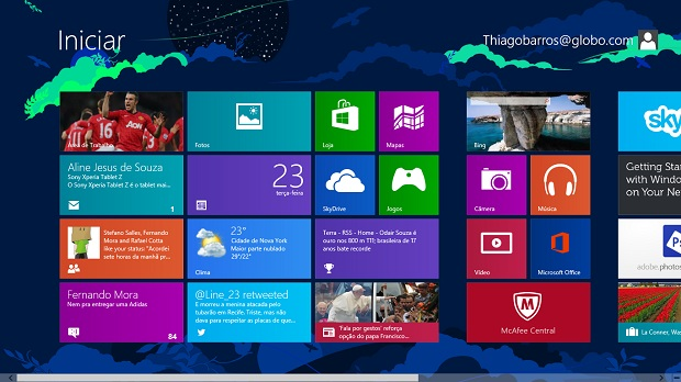 Windows 8 é bastante personalizável (Foto: Reprodução/Thiago Barros)