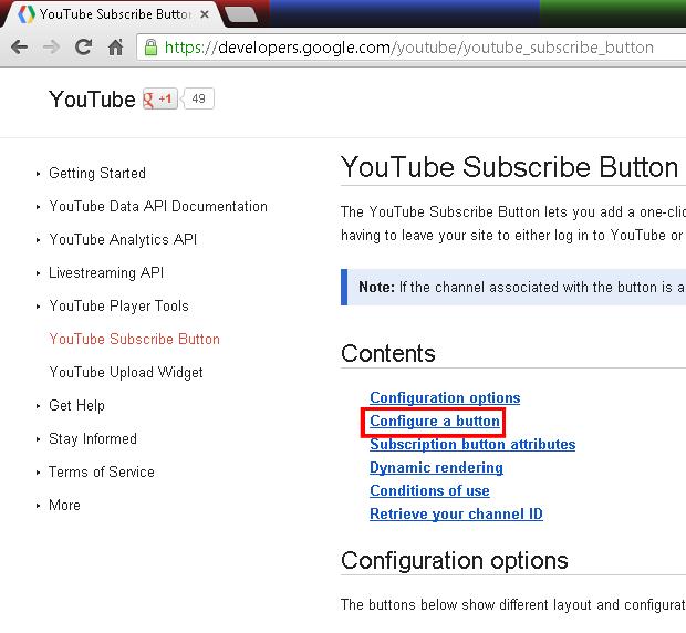 Como adicionar um botão de inscriçao do YouTube no seu site ou blog (foto: Reprodução/João Kurtz)