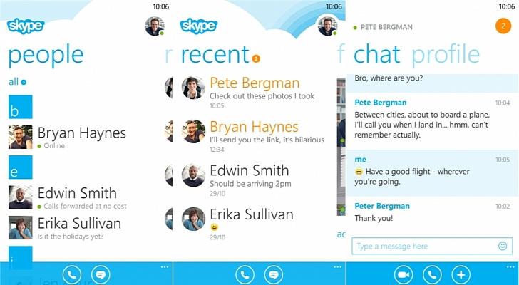 O Skype 2.9 para Windows Phone 8 foi anunciado nesta terça-feira (Foto: Divulgação)