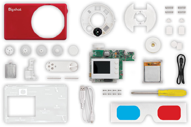Kit para montar a 'BigShot' vem com mais de 30 peças (Foto: Divulgação)