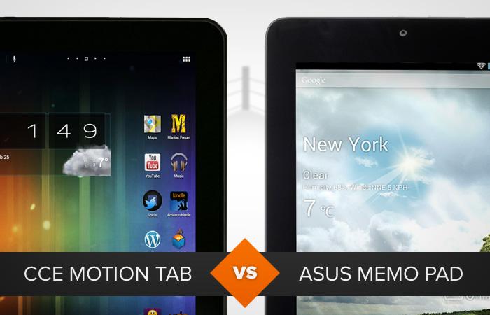 CCE Motion Tab ou Asus MeMo Pad: qual é o melhor tablet? (Foto: Arte / TechTudo)