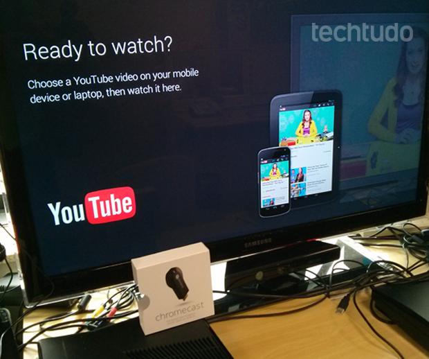 Depois da primeira configuração, o Chromecast poderá ser usado direto sem precisar recolocar senhas (Foto: TechTudo/Rodrigo Bastos)